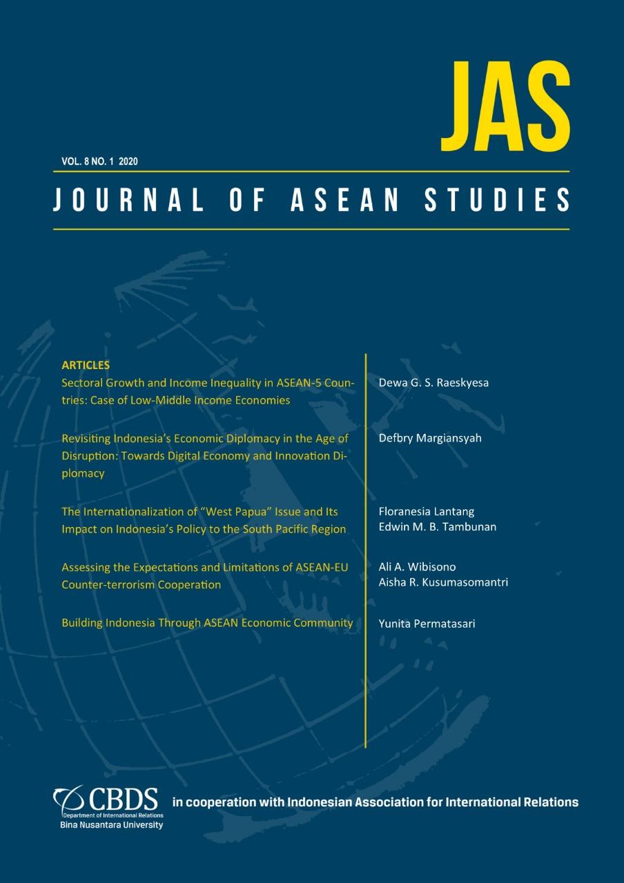View Vol. 8 No. 1 (2020): Journal of ASEAN Studies