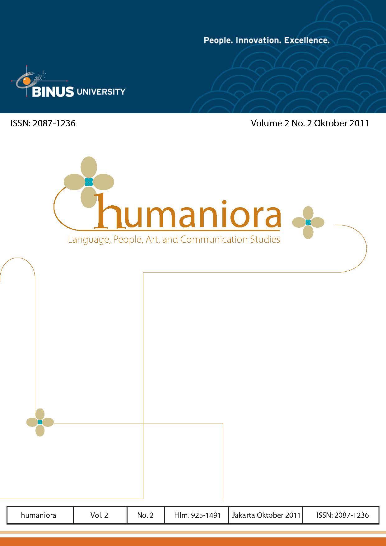 View Vol. 2 No. 2 (2011): Humaniora