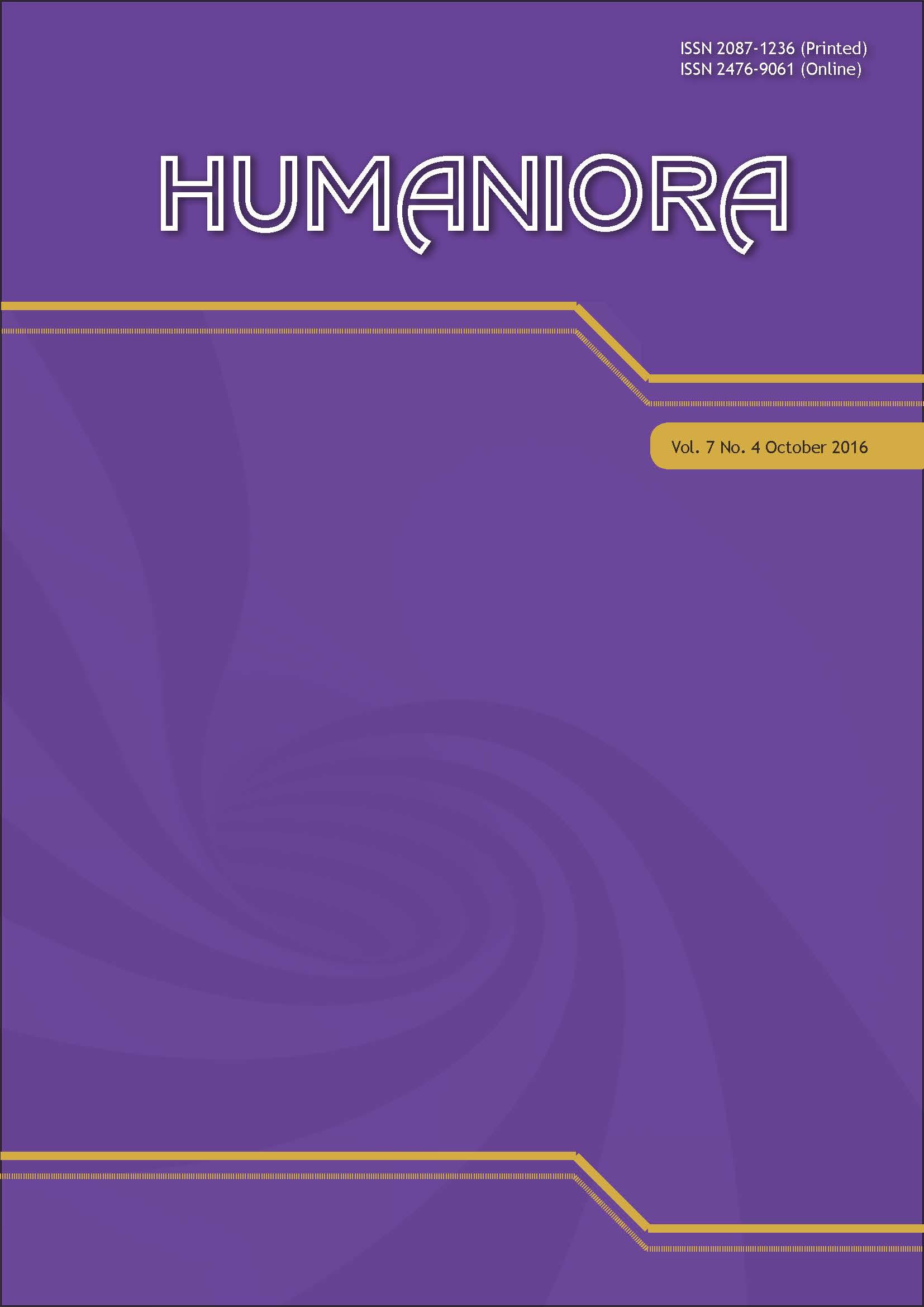 View Vol. 7 No. 4 (2016): Humaniora