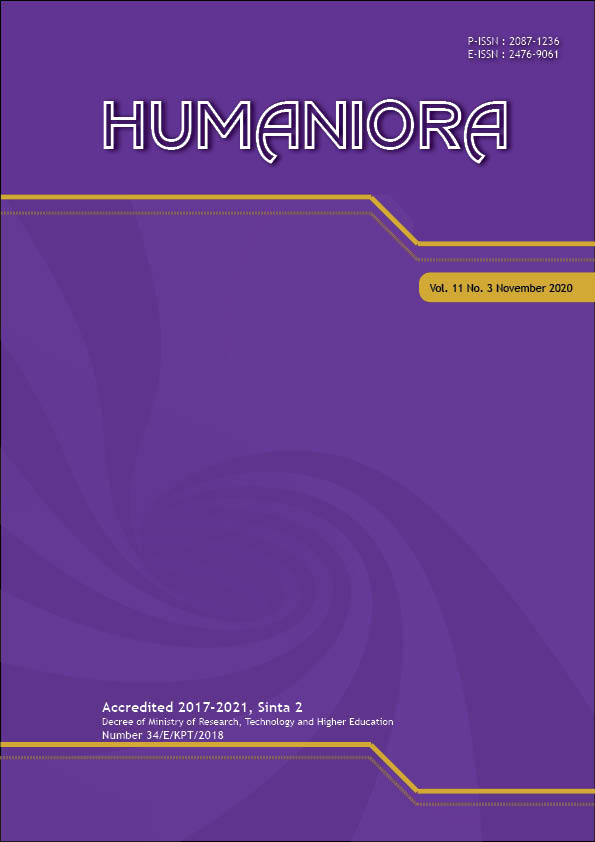View Vol. 11 No. 3 (2020): Humaniora (In Press)
