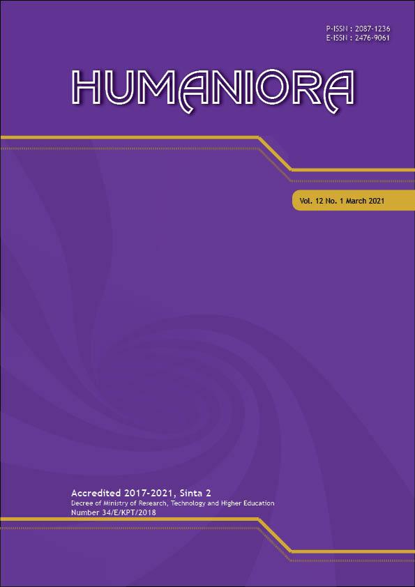 View Vol. 12 No. 1 (2021): Humaniora (In Press)