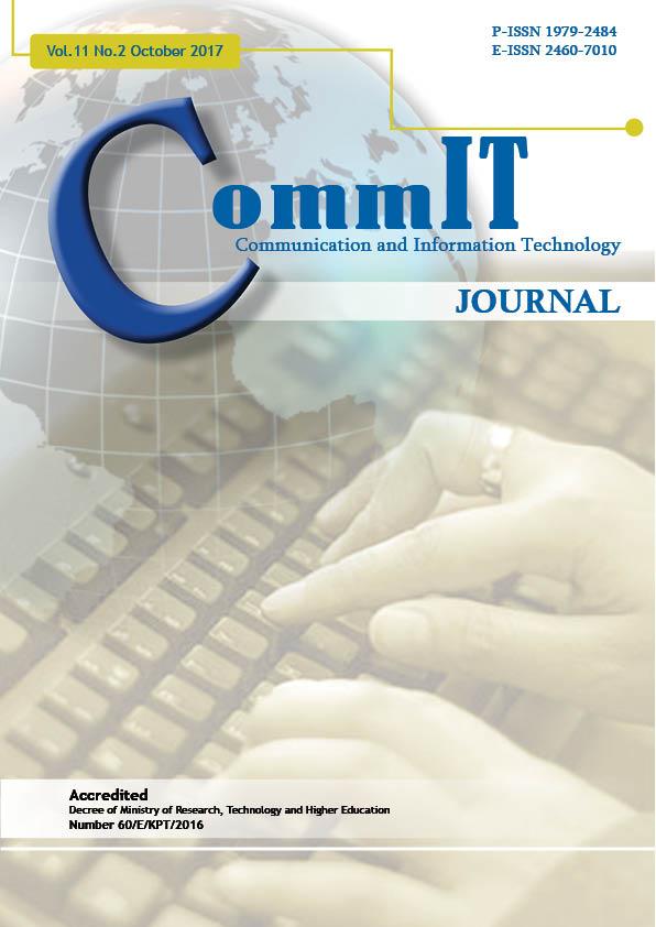 View Vol. 11 No. 2 (2017): CommIT Journal