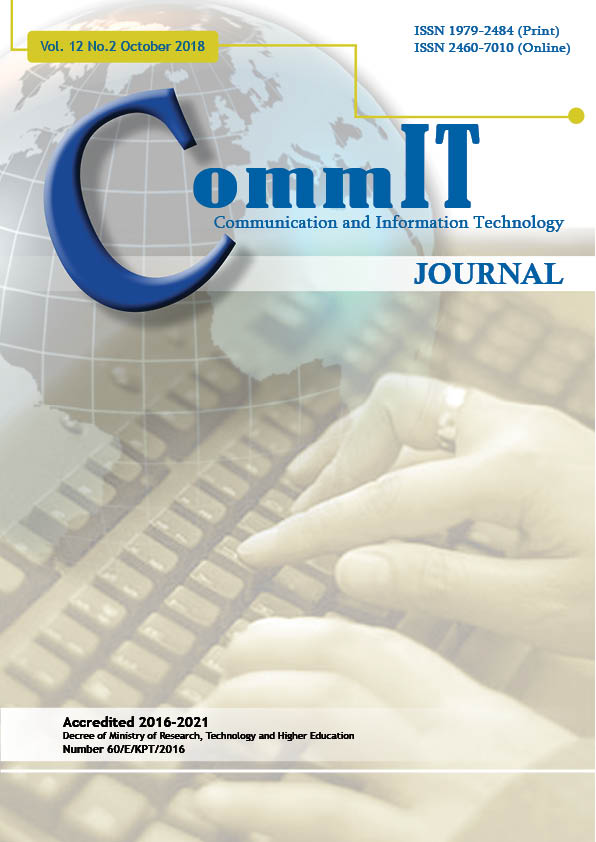 View Vol. 12 No. 2 (2018): CommIT Journal