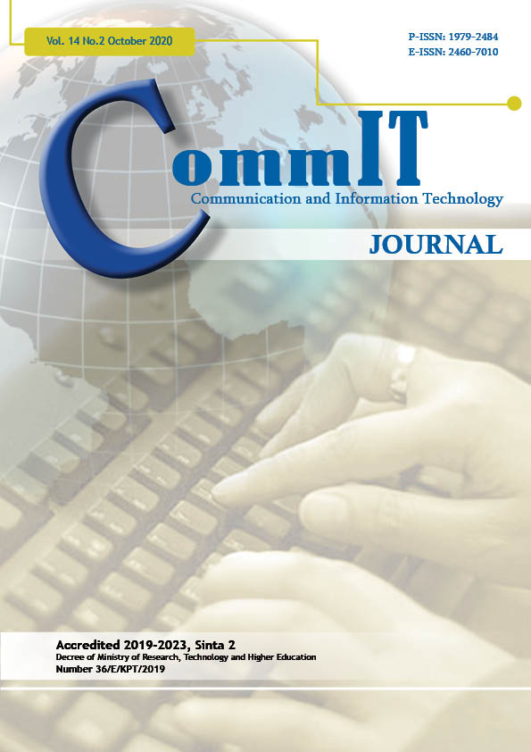 View Vol. 14 No. 2 (2020): CommIT Journal (IN PRESS)