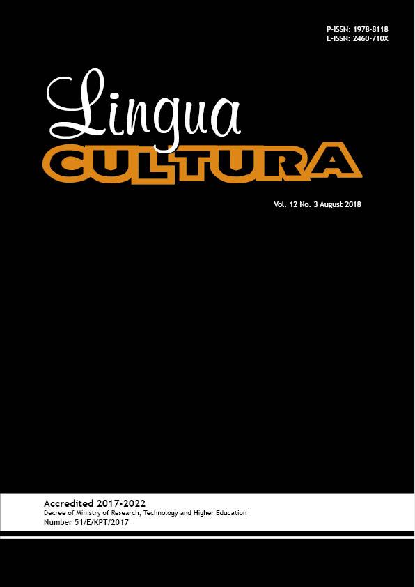 View Vol. 12 No. 3 (2018): Lingua Cultura Vol. 12 No. 3