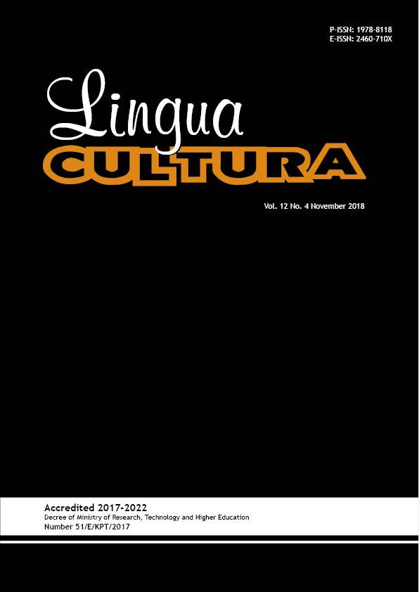 View Vol. 12 No. 4 (2018): Lingua Cultura vol. 12 No. 4