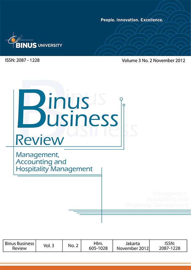 View Vol. 3 No. 2 (2012): Binus Business Review
