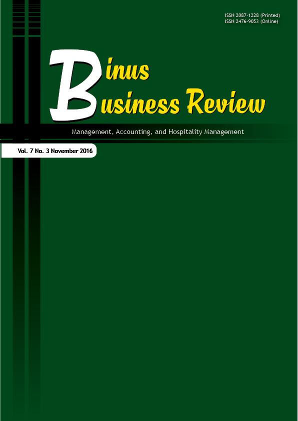 View Vol. 7 No. 3 (2016): Binus Business Review