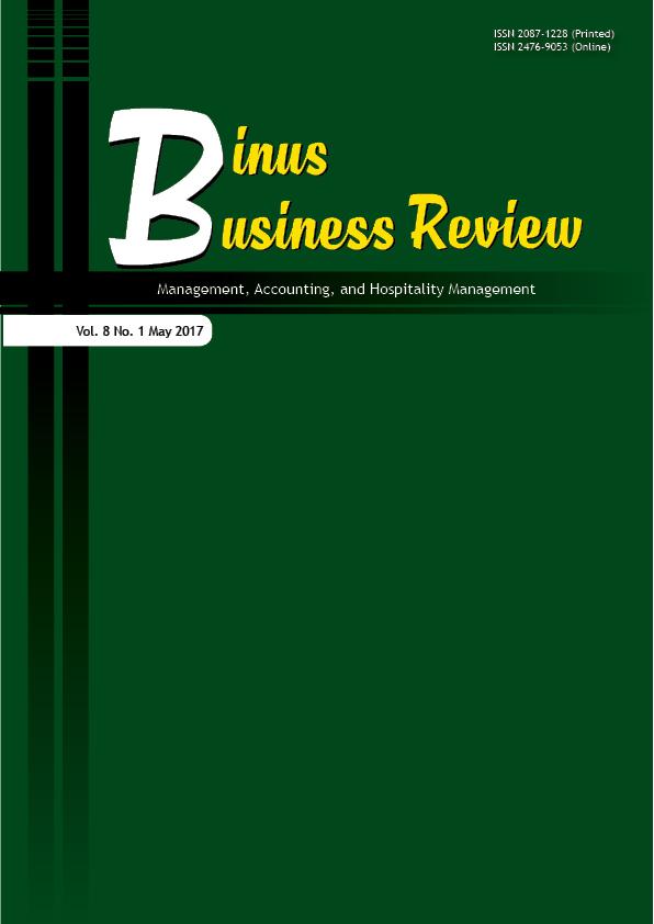 View Vol. 8 No. 1 (2017): Binus Business Review