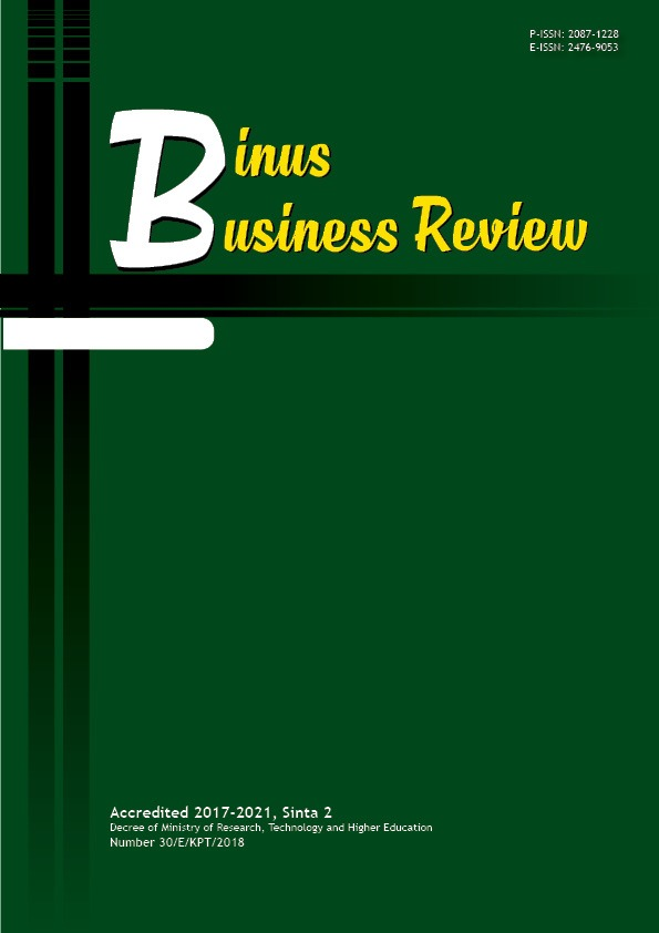 Binus Business Review: International Management, Accounting, Tourism and Hotel Management Journal Indexed in DOAJ