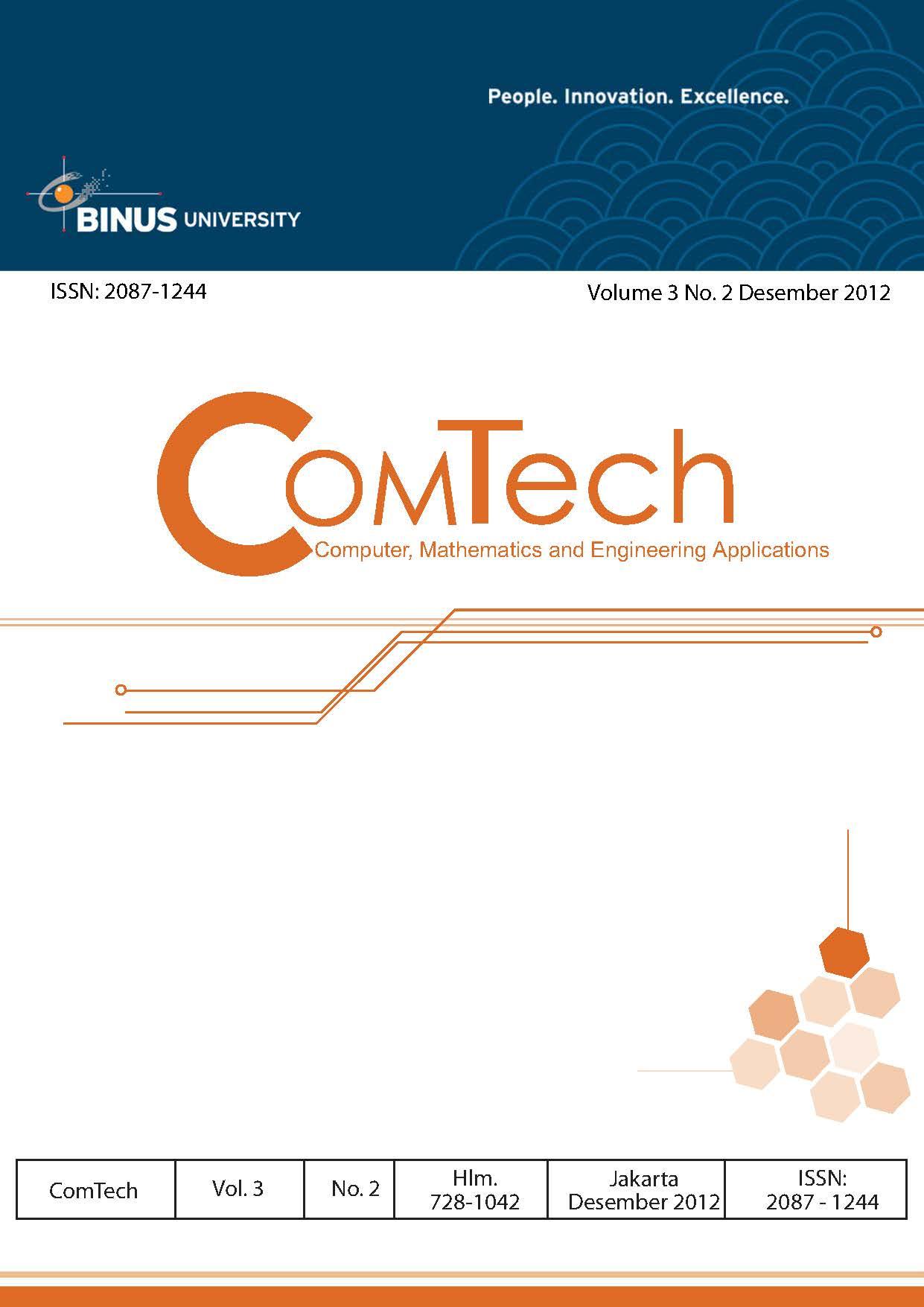 View Vol. 3 No. 2 (2012): ComTech