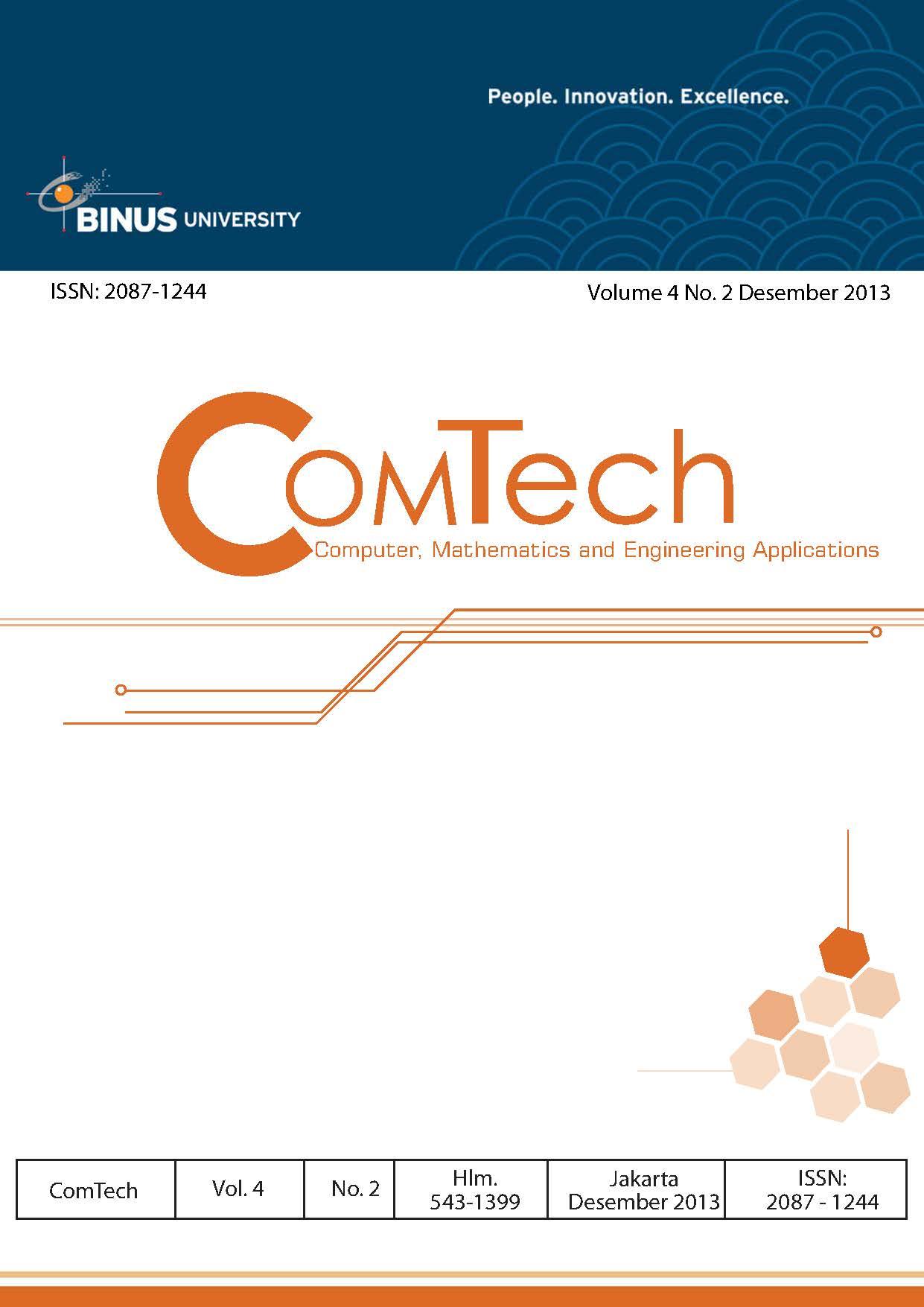 View Vol. 4 No. 2 (2013): ComTech