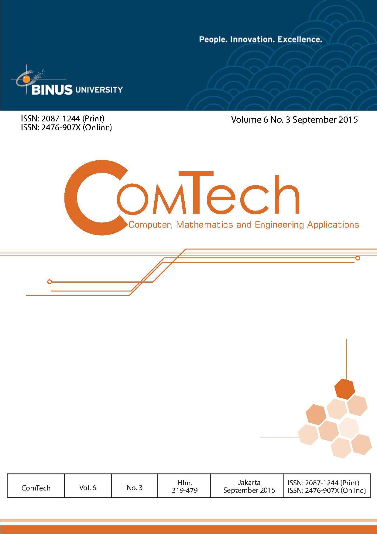 View Vol. 6 No. 3 (2015): ComTech